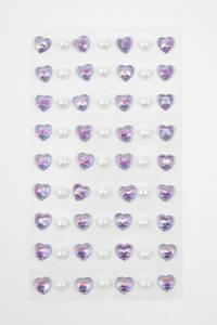 Bilde av Kort & Godt - Stickers - ST-144 - Perle & hjerte - Lilla