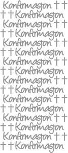 Bilde av Klistremerker - 0338 - Outline stickers - Konfirmasjon - Sølv