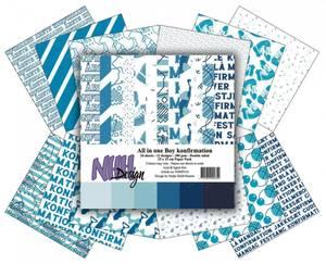 Bilde av NHH Design - Paper pad 15x15 cm - NHHP310 - Boy Konfirmation