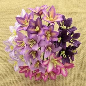 Bilde av Flowers - Lily Flowers - SAA-134 - Mixed Purple / Lilac - 50stk