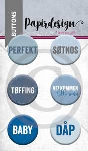 Bilde av Papirdesign - Buttons - 1900059 - Tøffing