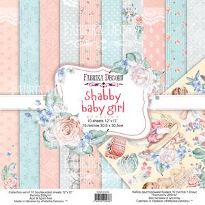 Bilde av Fabrika Decoru - 12x12 paper pack - 01076 - Shabby baby girl