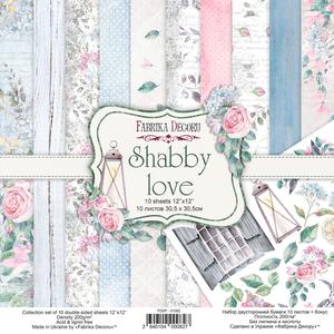 Bilde av Fabrika Decoru - 12x12 paper pack - 01082 - Shabby love