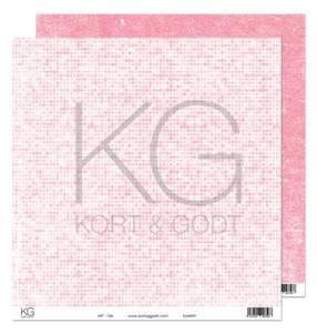 Bilde av Kort & Godt - Mønsterpapir 108191 - MP-106 rosa - 7566
