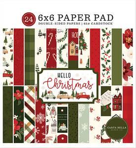 Bilde av Carta Bella - Hello Christmas - 6x6 Paper Pad