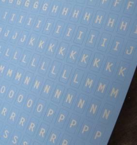 Bilde av Papirdesign - Alfabet - 103 - Lys Blå