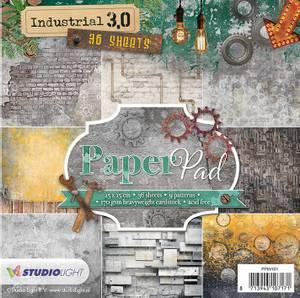 Bilde av Studiolight -  101 - PaperPad 15x15cm - PPIN101 - Industrial 3.0
