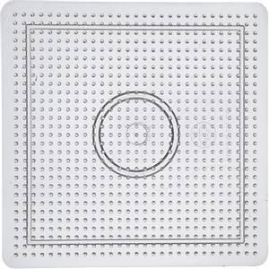 Bilde av Perlebrett - Nabbi Beads - Transparent Firkant stor - 15x15cm