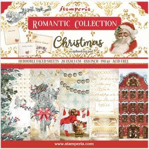 Bilde av Stamperia - 8x8 Paper Pack - 44 - Romantic Christmas