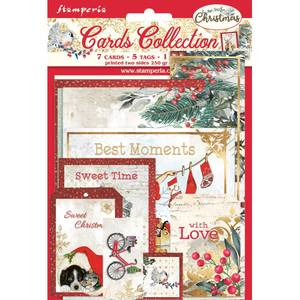 Bilde av Stamperia - Cards Collection - Romantic Christmas