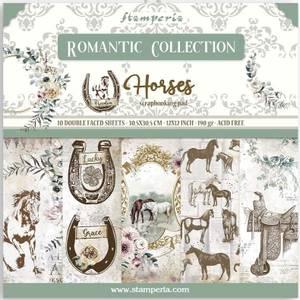 Bilde av Stamperia - 12x12 Paper Pack - 90 - Romantic Horses