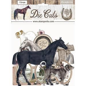 Bilde av Stamperia - Chipboard Die Cuts - 40 - Romantic Horses