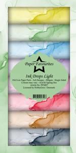 Bilde av Paper Favourites - SlimLine Paper Pad - PFS007 - Ink Drops Light