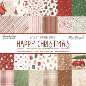Bilde av Maja Design - 1185 - Happy Christmas - 6x6 Paper Pack