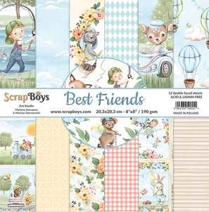 Bilde av ScrapBoys - Best Friends - 8x8 - Paper pad