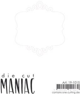 Bilde av Reprint - DieCut Maniac - 19-1015 - Die - Journaling ramme