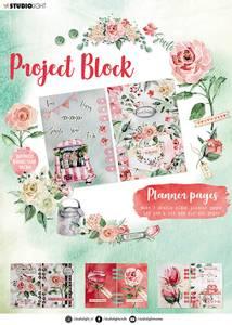 Bilde av Studiolight - Project block A4 - Planner Pages - Roses