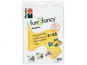 Bilde av Marabu - Fun & Fancy - PVC-fri plastark A4- 3stk