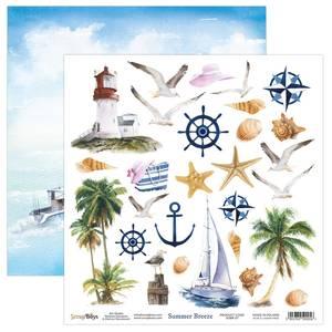 Bilde av ScrapBoys - Summer Breeze - 12x12 - SUBR-07 - Die Cut Sheet