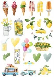 Bilde av Reprint -  A4 Klippeark - KP0081 - Summer Holiday - Cutouts