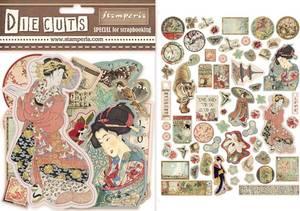 Bilde av Stamperia - Chipboard Die Cuts - 04 - Oriental Garden