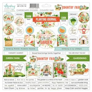 Bilde av Mintay - CTR - 12x12 - Country Fair - Cardboard Stickers