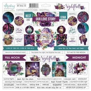 Bilde av Mintay - NIG - 12x12 - Nightfall - Cardboard Stickers