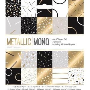 Bilde av Papermania - 6x6 Paper Pad - Metallic Mono