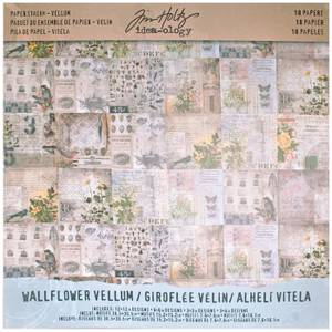 Bilde av Tim Holtz - Idea-Ology - 12x12 PaperStash - Vellum Wallflower