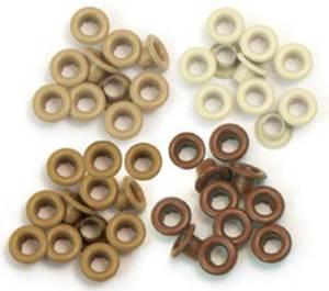 Bilde av We R Memory Keepers - Standard Eyelets - Brown - 60 stk