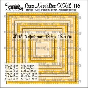 Bilde av Crealies - Crea-Nest-Lies XXL 116 - Squares with little stripes