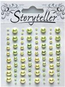 Bilde av Storyteller - Halvperler - ST-006147 - Grønn & Gul