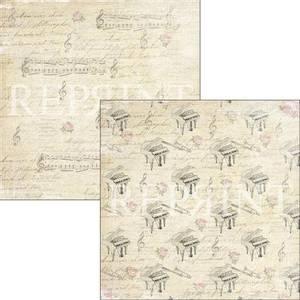 Bilde av Reprint - 12x12 - RP0324 - Music & Roses - Music