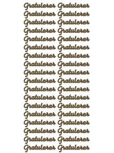 Bilde av Klistremerker - 0136 - Outline stickers - Gratulerer - Gull
