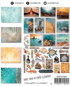 Bilde av Studiolight -   649 - Die Cut Paper Set - Ocean View