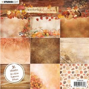 Bilde av Studiolight -  150 - PaperPad 15x15cm - Wonderful Autumn