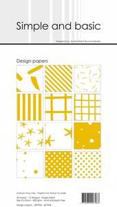 Bilde av Simple and basic - Paper Pack - SBP904 - 10x21cm - Mustard