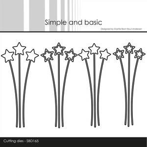 Bilde av Simple and basic - Dies - SBD165 - Decorative Star Branches