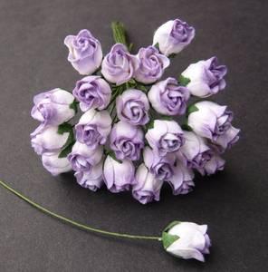 Bilde av Flowers - Hip Rosebuds - SAA-460 - 2-Tone Lilac - 50stk