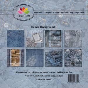 Bilde av Dixi Craft - Paper Pad 15x15 - 097 - Denim Background I