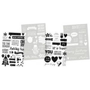 Bilde av Simple Stories - 5182 - DIY Christmas - Stickers Clear