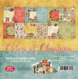Bilde av Craft & You - CC15 - Colors of Christmas - 6x6 Paper Pad