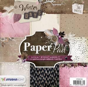 Bilde av Studiolight -  100 - PaperPad 15x15cm - PPWD100 - Winter Days