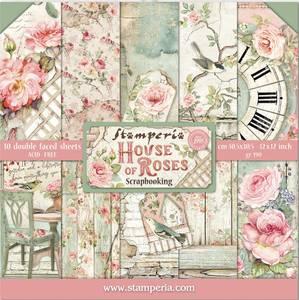 Bilde av Stamperia - 12x12 Paper Pack - 66 - House of Roses