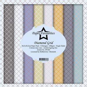Bilde av Paper Favourites - 12x12 Paper Pack - PF368 - Diamond Grid