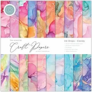 Bilde av Craft Consortium - 12x12 - Essential Paper Pad - Ink Drops Candy