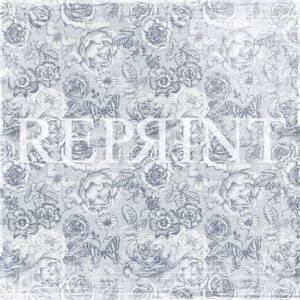 Bilde av Reprint - 12x12 - RP0259 - Dusty Blue - Big Roses