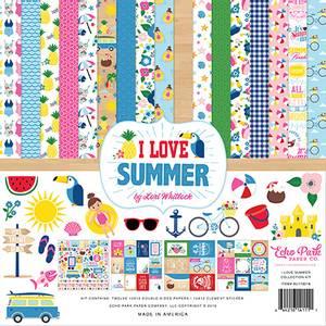 Bilde av Echo Park - I Love Summer - 12x12 Collection Kit