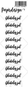 Bilde av Papirdesign - Transparent Stickers - 1900184 - Gledelig jul sort