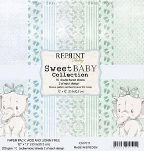 Bilde av Reprint - 12x12 - CRP011 - Sweet Baby Blue Collection Pack